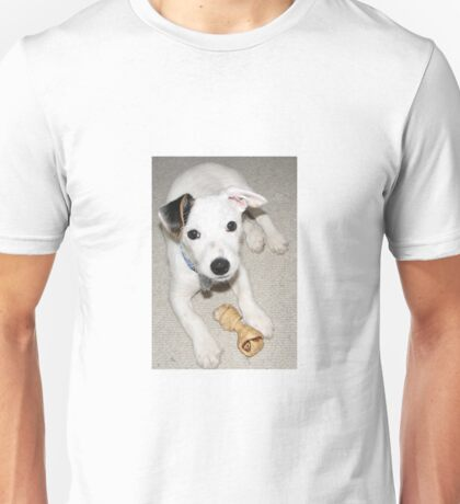 JRT puppy laying w toy Unisex T-Shirt