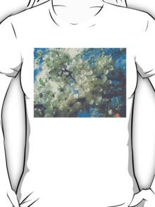 Halftone Blossoms 2 T-Shirt