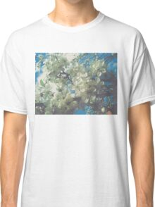 Halftone Blossoms 2 Classic T-Shirt