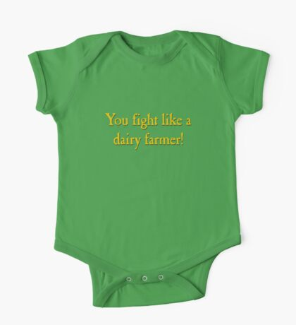 You Fight Like A Dairy Farmer One Piece - Short Sleeve