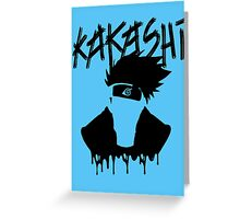 Kakashi - Naruto Greeting Card