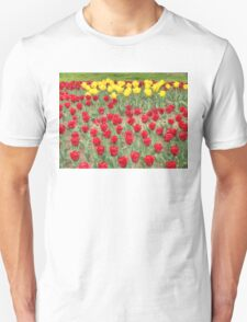 Lots of Red Tulips 2 Unisex T-Shirt