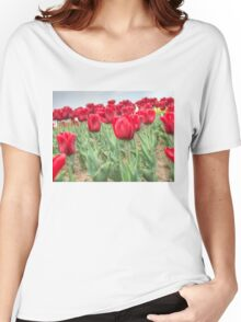 Lots of Red Tulips 3 Women's Relaxed Fit T-Shirt