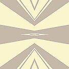 Gray and Cream V Shaped by Julie Everhart by Julie Everhart