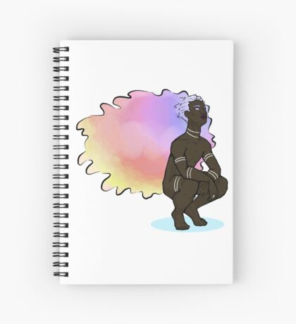 Etheral Sunset Hair Boy Spiral Notebook