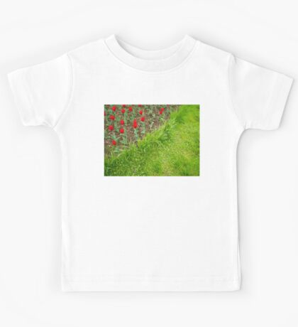 Red Tulips and Green Grass Kids Tee