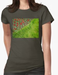 Red Tulips and Green Grass T-Shirt
