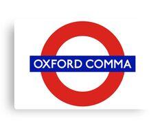 Oxford Comma Canvas Print