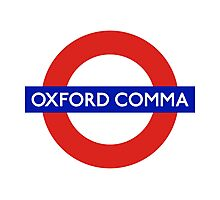 Oxford Comma Photographic Print