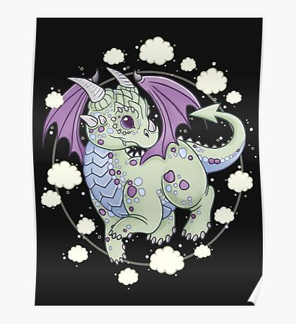 Dragon in the Clouds Poster