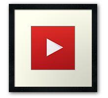 Youtube Logo Framed Print