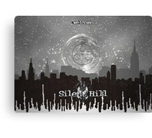 Silent Hill - Simplistic Graphic Design Canvas Print