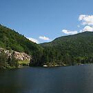 Lake in Crawford Notch state park NH by Ilan Cohen