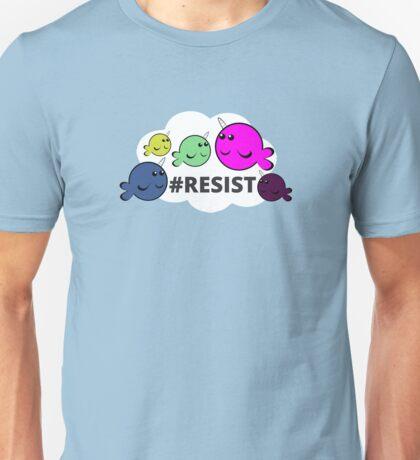 Neurodivergent Narwhals #Resist T-Shirt