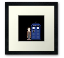 10th doctor and tardis Framed Print