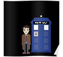 10th doctor and tardis Poster