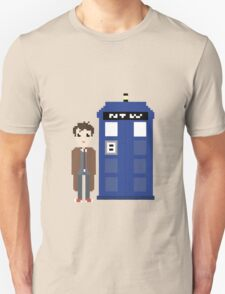 10th doctor and tardis Unisex T-Shirt