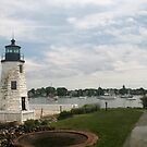 Lighthouse in Newport RI by Ilan Cohen