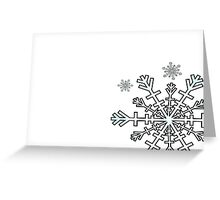 Minimalistic Snowflake Christmas Greeting Card