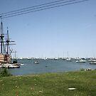 Mayflower II replica in Plymouth MA  by Ilan Cohen