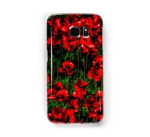 Poppy fields of remembrance for WW1 at Tower of London - square photo Samsung Galaxy Case/Skin