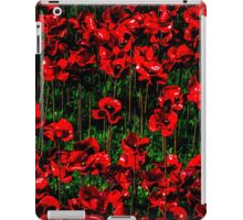 Poppy fields of remembrance for WW1 at Tower of London - square photo iPad Case/Skin