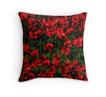 Poppy fields of remembrance for WW1 at Tower of London - square photo Throw Pillow