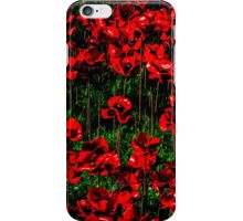 Poppy fields of remembrance for WW1 at Tower of London iPhone Case/Skin