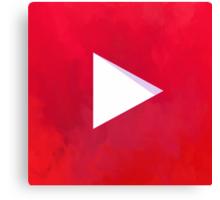 Textured Youtube Logo Canvas Print