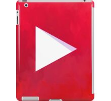 Textured Youtube Logo iPad Case/Skin