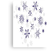 Blue and White Holiday Snowflakes Canvas Print