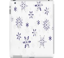 Blue and White Holiday Snowflakes iPad Case/Skin