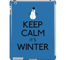 Keep calm it's winter snowman iPad Case/Skin