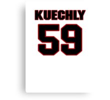 NFL Player Luke Kuechly fiftynine 59 Canvas Print