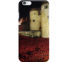 Poppies at the Tower of London - Night #3 iPhone Case/Skin
