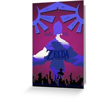 Legend of Zelda: Skyward Sword - Link - Fi - Loftwing Greeting Card