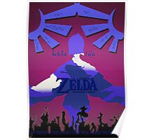 Legend of Zelda: Skyward Sword - Link - Fi - Loftwing Poster