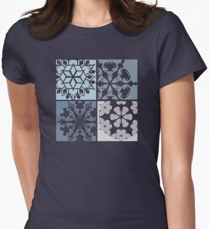 Happiest Snowflakes on Earth Womens Fitted T-Shirt