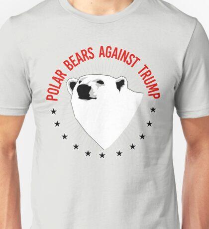 Polar Bears Against Trump Unisex T-Shirt