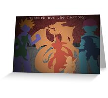 Pokemon - Charmander - Charmeleon - Charizard - Absol - Flygon - Red - Blue Greeting Card