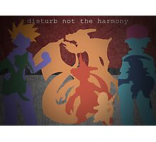 Pokemon - Charmander - Charmeleon - Charizard - Absol - Flygon - Red - Blue Photographic Print