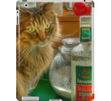 CAT AND TEQUILA iPad Case/Skin