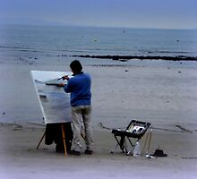 An Artist at work by Charmiene Maxwell-Batten