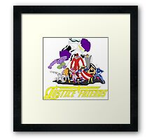 JUSTICE FRIENDS Framed Print