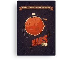 Mars colonization project Canvas Print