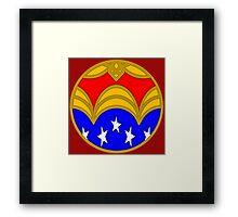 Amazon Princess - Minimal Comic Book Superhero Logo Framed Print