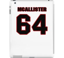 NFL Player Chris McAllister sixtyfour 64 iPad Case/Skin