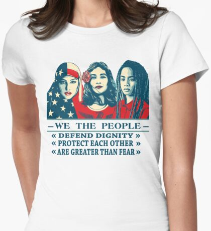 women's march 2017 t shirt Womens Fitted T-Shirt