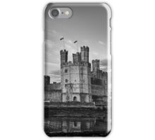 Caernarfon Castle Monochrome iPhone Case/Skin