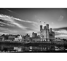 Caernarfon Castle Monochrome Photographic Print